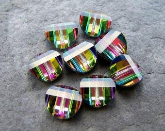 Swarovski Crystal, Vitrail Medium, Pagoda Beads, 8mm, Lefts, 8 Beads
