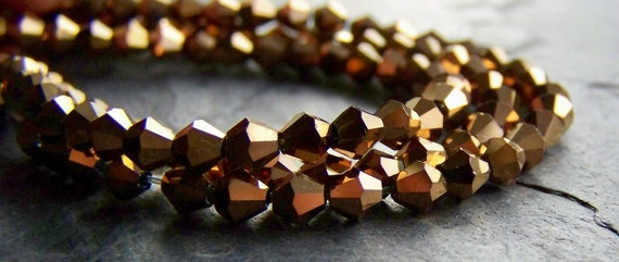 15% Off Storewide-Coupon Code Summertime-Beads-Copper Crystal Bicones-20