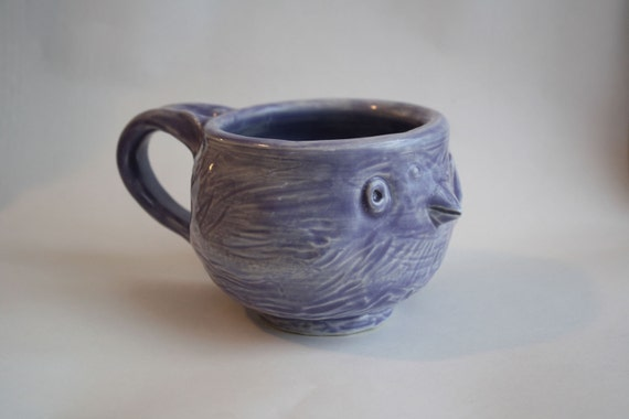 Purple Relax...BACK TO WORK bird shaped mug