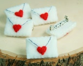 Felt Love Letter Embroidered Brooch Scarf Pin