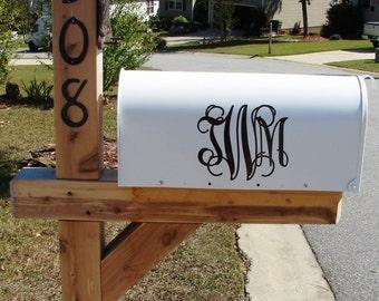 Mailbox Vinyl Monogram Decal - Personalized Mailbox Sticker - Mailbox Decal - Mailbox Letters