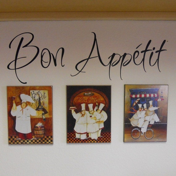 Green Kitchen Theme Ideas: Items Similar To Bon Appetit