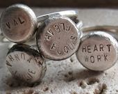 Silver Personalized Ring
