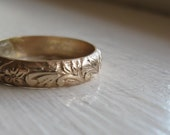 Rustic 14k Gold fill Renaissance Wedding Ring