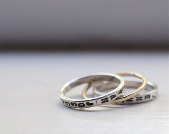 Personalized Mother's Rings