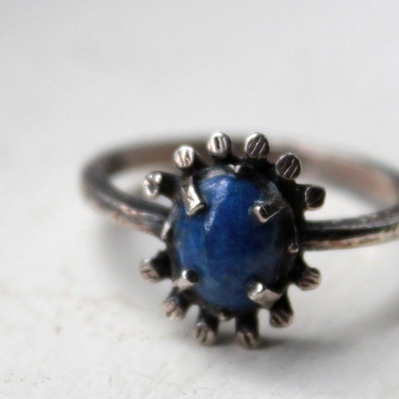Etsy CYBER MONDAY sale Lapis Lazuli and Sterling Ring size 7.25 ready to ship
