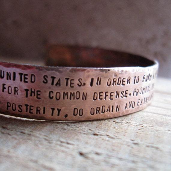Personalized Copper Cuff Bracelet