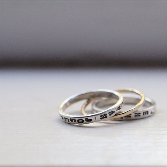 personalized s rings