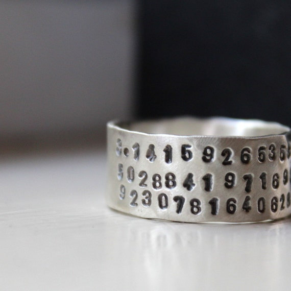 Unique Sterling Pi Ring for Geeks and Math Lovers - Graduation gift
