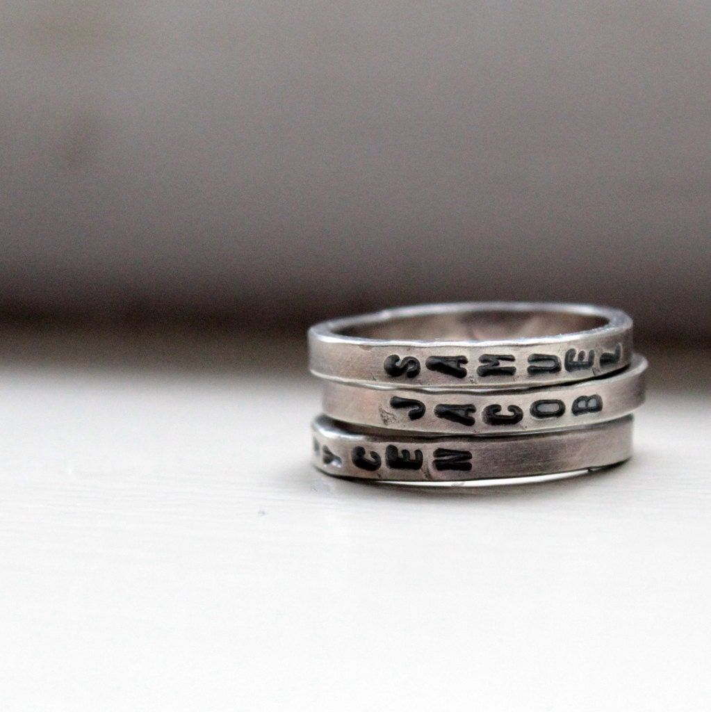 sted stacking rings personalized jewelry