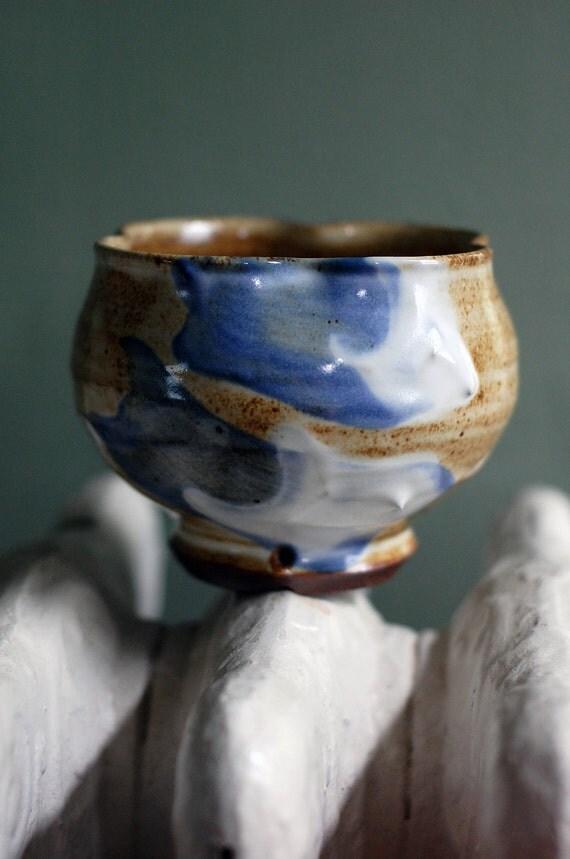 blue striped chawan