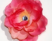 45% OFF SALE Gorgeous Peachy Pink Rose Flower Hair Clip- 3.5 Inches