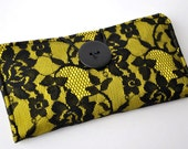 Black and Yellow Lace Wallet