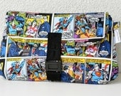 Superman Comic Book Buckle Clutch