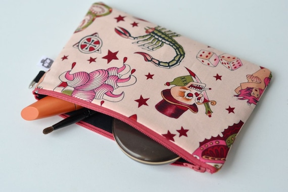 Pink Sailor Tattoo Pouch
