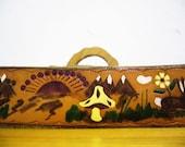 Bohemian Scene Wood and Leather Vintage Belt