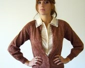 RESERVED FOR J Copper Sparkle Vintage Cardigan Sweater