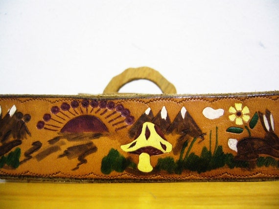 Bohemian Scene Wood and Leather Vintage Belt