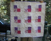 Butterfly Kisses Pink and Purple Quilt