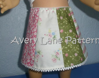 18 inch doll clothes Pattern Country Skirt doll clothing sewing pattern  Avery Lane 18 inch dolls PDF instant download