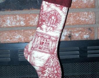 Primitive Victorian Stocking Pattern Et