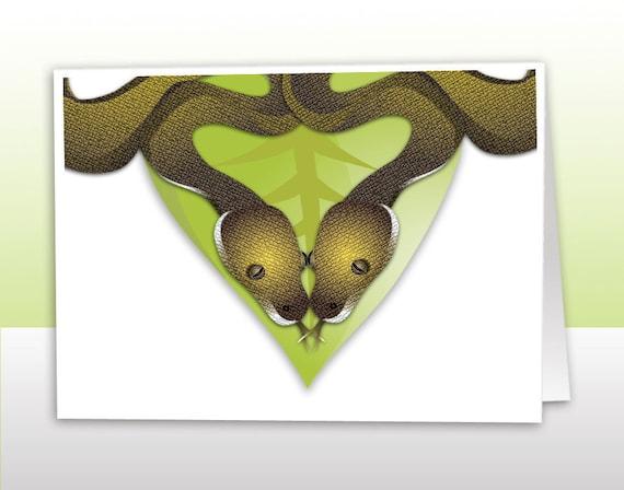 Snake Love Card