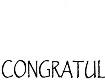 Baby congratulations. Unmounted rubber stamp