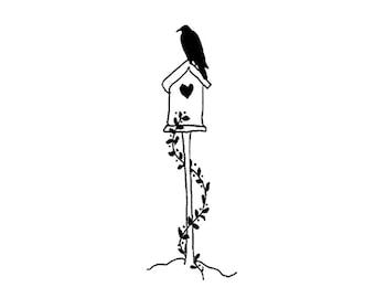 Crow bird house