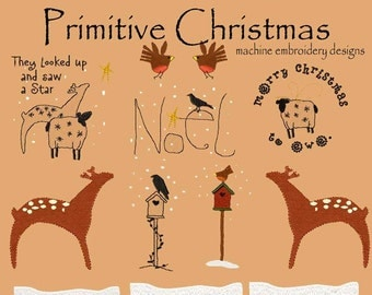 PRIMITIVE CHRISTMAS.machine embroidery designs