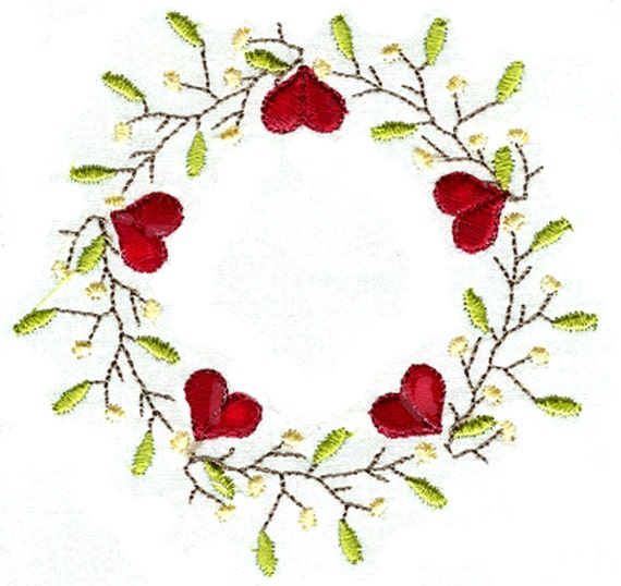 HEART PIP BORDERS For The 4x4 Hoop Primfolk Art By