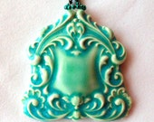 Celedon Green Focal Ceramic bead Pendant