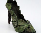 Ceramic Sculpture Garden Goddess Shoe  Made to order