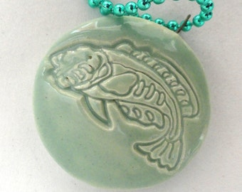 Pisces Fish Pendant Focal Bead Necklace