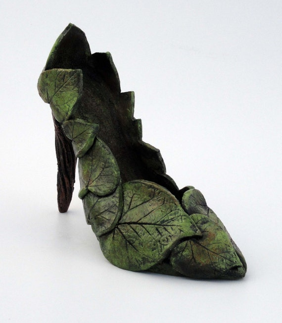 Ceramic Sculpture Garden Goddess Shoe  Made to order
