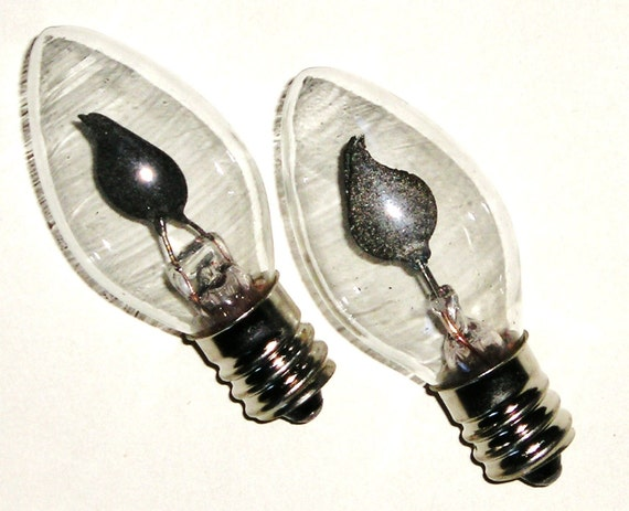 Night Light Flicker Bulbs 12 Clear Glass Bulb With Orange
