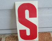 Vintage Letter Architectural Salvage Initial Plastic Letter from Illuminated Sign Mid Century Modern Treasury Item