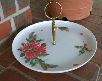 Vintage Melamine Christmas Tray Melamine Dinnerware Melmac Dishes Cottage Chic Christmas RV Dishes Mid Century Modern FLORENCE Melmac