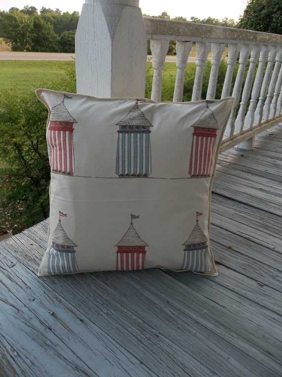 LAST CALL Beach Cottage Décor Throw Pillow Accent Handmade Cottage Chic Nautical Decorative Pillow DISCONTINUED Item Slipcover Beach Decor