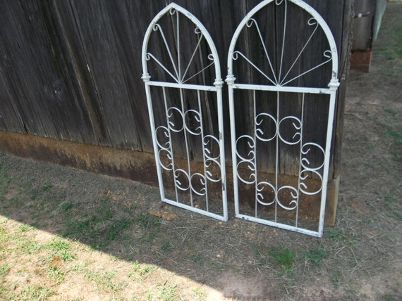 RESERVED Vintage Wrought Iron Gate Wedding Decor Architectural
