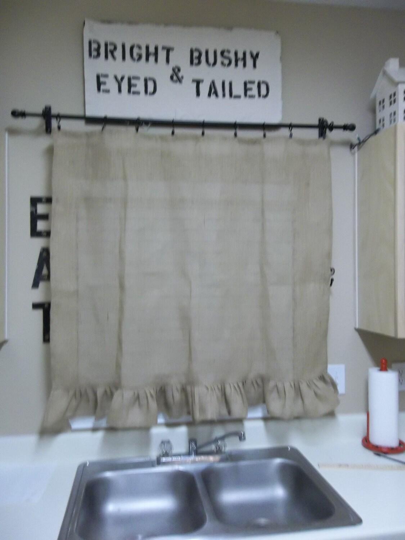 Custom Made Burlap Curtains Ruffled Burlap Curtains Burlap