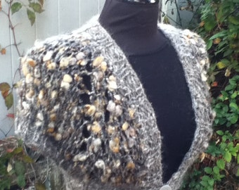 Bolero Vest Caramel - PDF Knitting Pattern for handspun yarn - US 17 (12.75 mm)