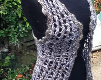 Mermaid's Lace Vest handknit handspun