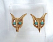 Reserved for WildChild - Vintage Rare Fox Earrings - 1961 H.C. Co.