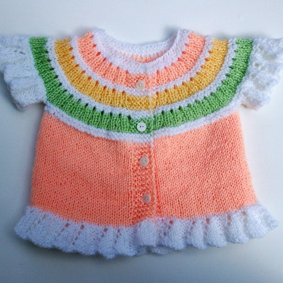 Knitted Baby Vest Pattern : Baby Vest with Curly Edges PDF KNITTING PATTERN 6 to12