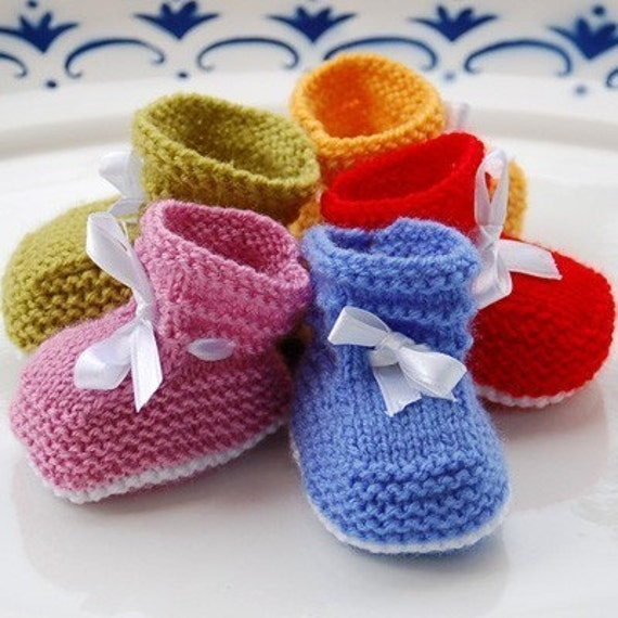 Easy Baby Booties PDF PATTERN (1-3, 3-6 and 6-12 months)