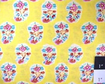 Kaffe Fassett Asha Yellow Fabric 1 Yard