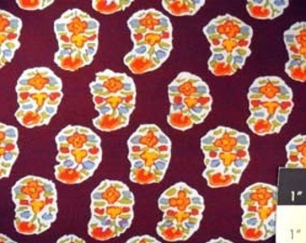 Kaffe Fassett GP75 Asha Prune Cotton Fabric 1 Yard