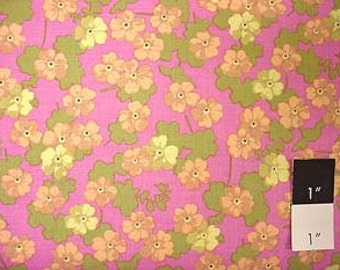 CLEARANCE Martha Negley Flower Sprinkles Plum Cotton Fabric 1 Yd