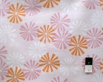 Annette Tatum AT50 Soleil Pinwheel Pink Cotton Fabric 1 Yard