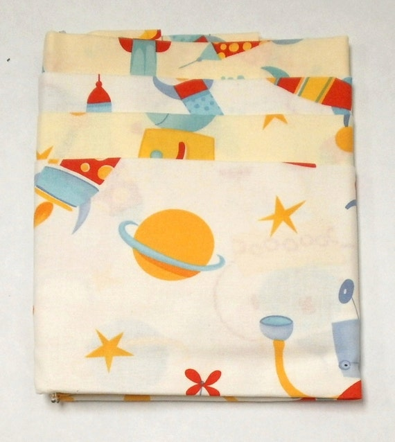 Private Listing for sparklyelf  CLEARANCE David Walker Robots Collection 4-Pack Fat Quarter Bundle